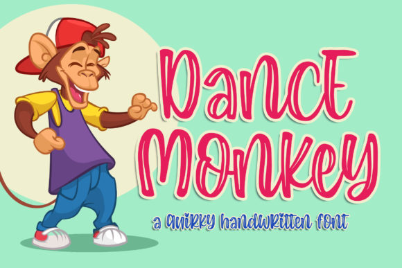 Print on Demand: Dance Monkey Display Font By Blankids Studio - Image 1