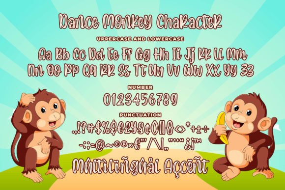 Print on Demand: Dance Monkey Display Font By Blankids Studio - Image 6