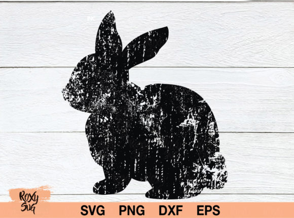 Download Free Distressed Easter Bunny Graphic By Roxysvg26 Creative Fabrica for Cricut Explore, Silhouette and other cutting machines.
