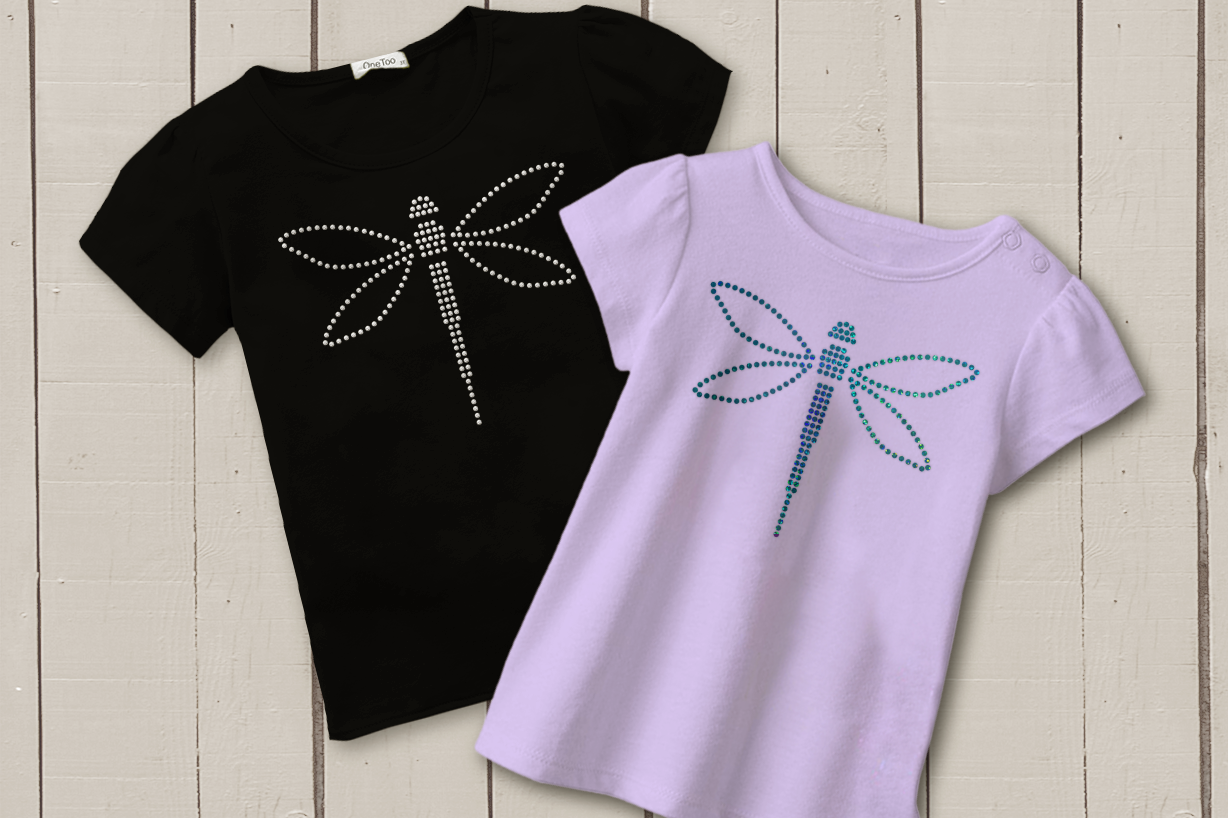 Download Free Dragonfly Rhinestone Template Grafico Por Designedbygeeks for Cricut Explore, Silhouette and other cutting machines.