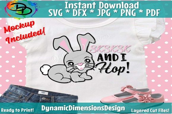 Download Free Easter Bunny Graphic By Dynamicdimensions Creative Fabrica for Cricut Explore, Silhouette and other cutting machines.