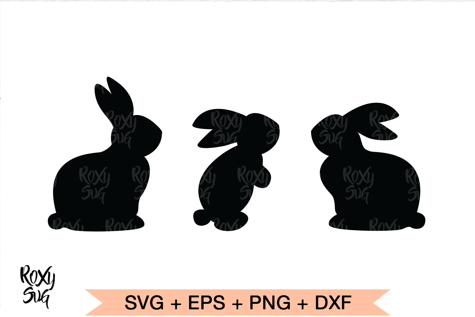 Download Free Easter Bunny Graphic By Roxysvg26 Creative Fabrica for Cricut Explore, Silhouette and other cutting machines.