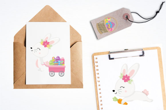 Print on Demand: Adorable Easter Bunnies Graphic Graphic Templates By Prettygrafik - Image 4
