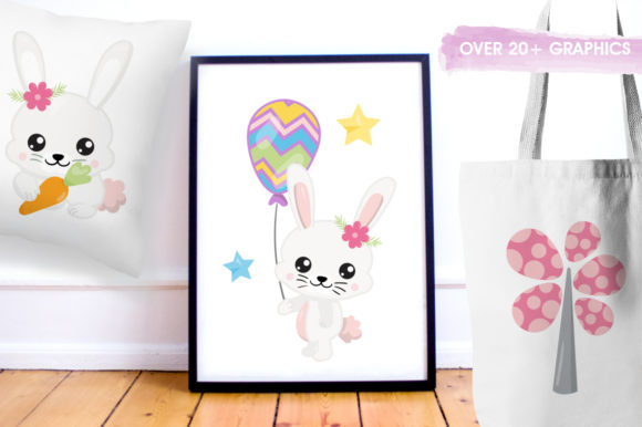 Print on Demand: Adorable Easter Bunnies Graphic Graphic Templates By Prettygrafik - Image 5