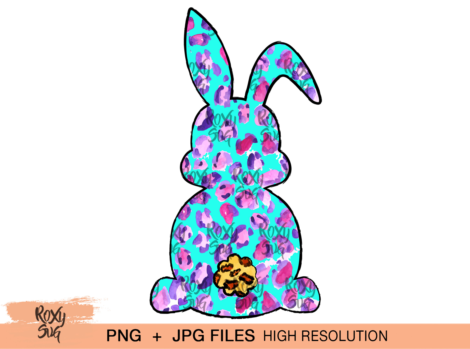 Download Free Easter Bunny Sublimation Design Graphic By Roxysvg26 Creative for Cricut Explore, Silhouette and other cutting machines.