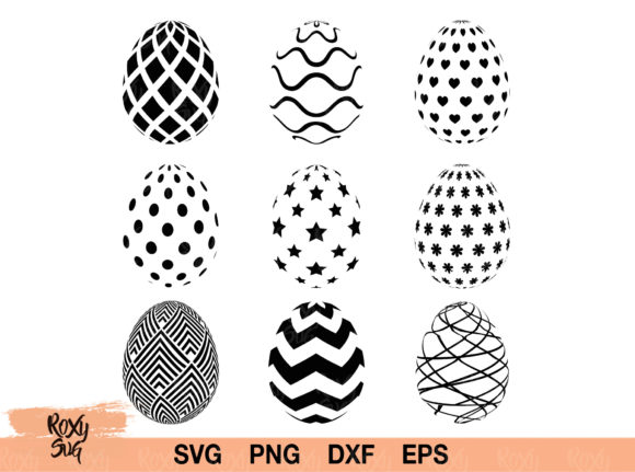 Download Free Easter Eggs Graphic By Roxysvg26 Creative Fabrica SVG Cut Files