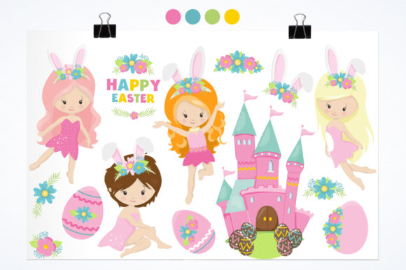 Print on Demand: Easter Girl Graphic Graphic Templates By Prettygrafik - Image 2
