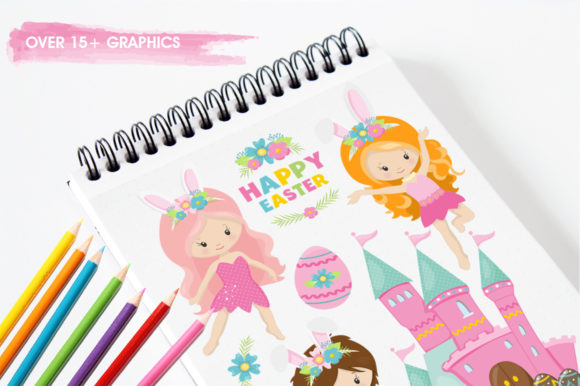 Print on Demand: Easter Girl Graphic Graphic Templates By Prettygrafik - Image 3