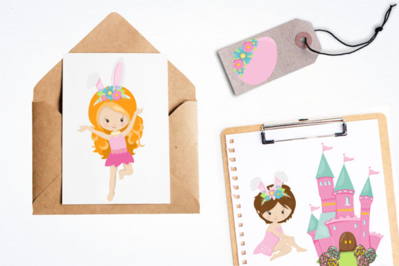 Print on Demand: Easter Girl Graphic Graphic Templates By Prettygrafik - Image 4