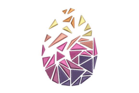 Easter Polygonal Egg Easter Embroidery Design By CozyAit - Image 1