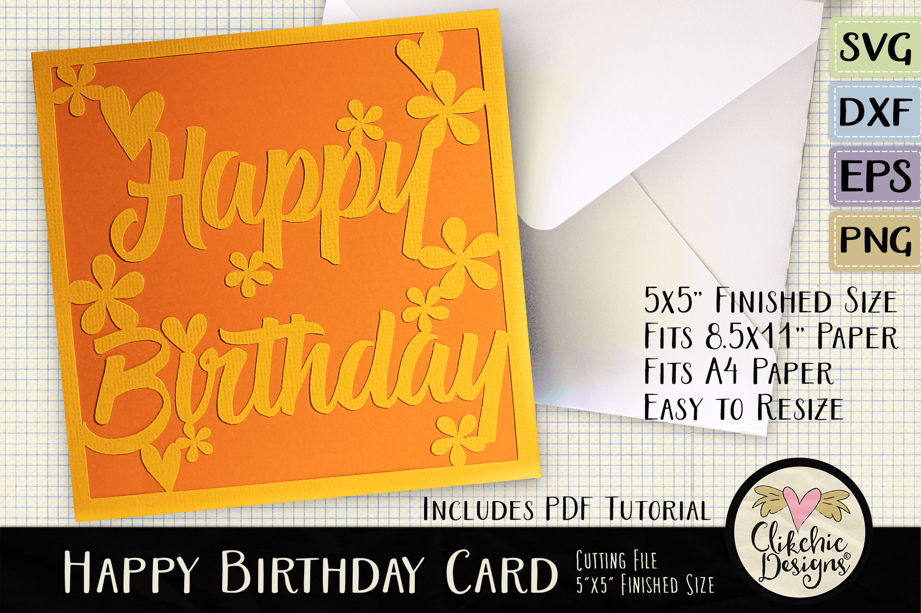 Floral Happy Birthday Card Graphic By Clikchicdesigns Creative