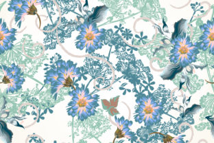 Floral Vector Pattern in Vintage Style Graphic Patterns By fleurartmariia