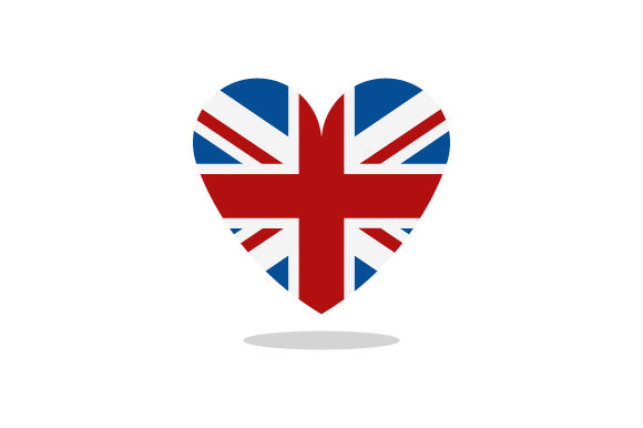 Download Free Great Britain Flag With Heart Graphic By Marco Livolsi2014 for Cricut Explore, Silhouette and other cutting machines.