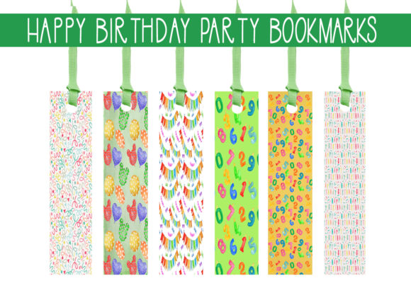 Print on Demand: Happy Birthday Bookmarks Graphic Print Templates By capeairforce