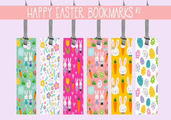 Print on Demand: Happy Easter Bookmarks Graphic Print Templates By capeairforce