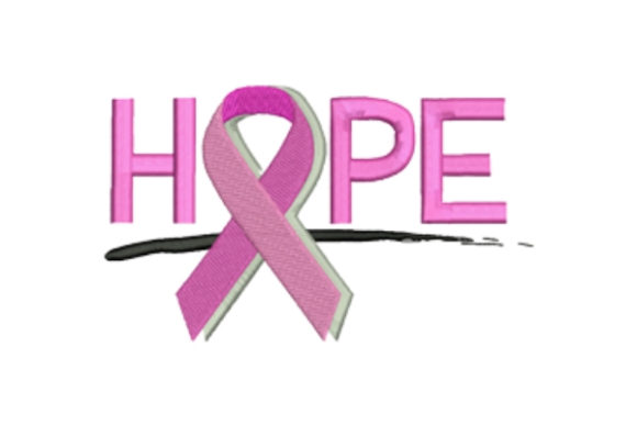 Hope Awareness Embroidery Design By designsbymira