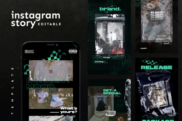 Print on Demand: Instagram Story Template Graphic Websites By ovoz.graphics