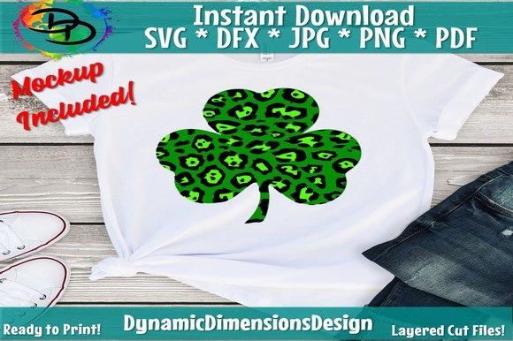 Download Free Leopard Shamrock Graphic By Dynamicdimensions Creative Fabrica for Cricut Explore, Silhouette and other cutting machines.