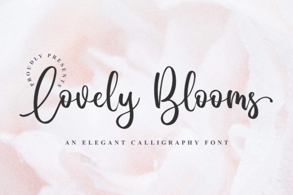 Lovely Blooms Font By Blankids Studio Creative Fabrica