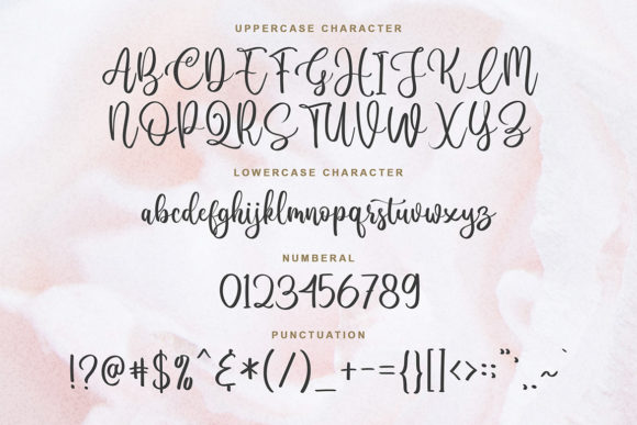 Print on Demand: Lovely Blooms Script & Handwritten Font By Blankids Studio - Image 6