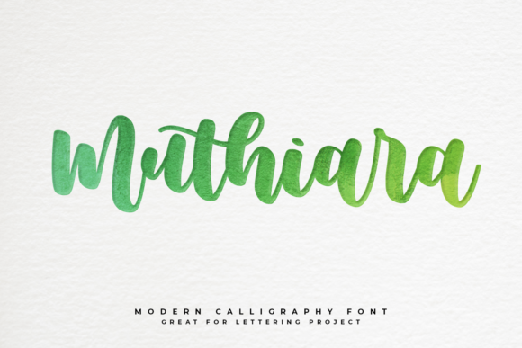 Print on Demand: Muthiara Script & Handwritten Font By Abodaniel