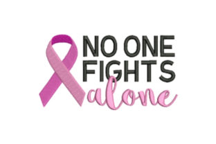 No One Fights Alone Awareness Embroidery Design By designsbymira