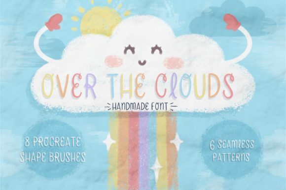 Print on Demand: Over the Clouds Script & Handwritten Font By Latin Vibes