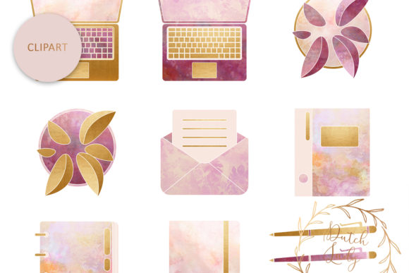 PSD Lady Boss Planner Pack Template Graphic Design
