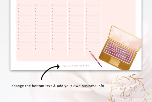 PSD Lady Boss Planner Pack Template Graphic Design Item