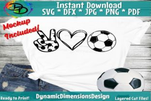 Download Free Peace Love Soccer Graphic By Dynamicdimensions Creative Fabrica for Cricut Explore, Silhouette and other cutting machines.