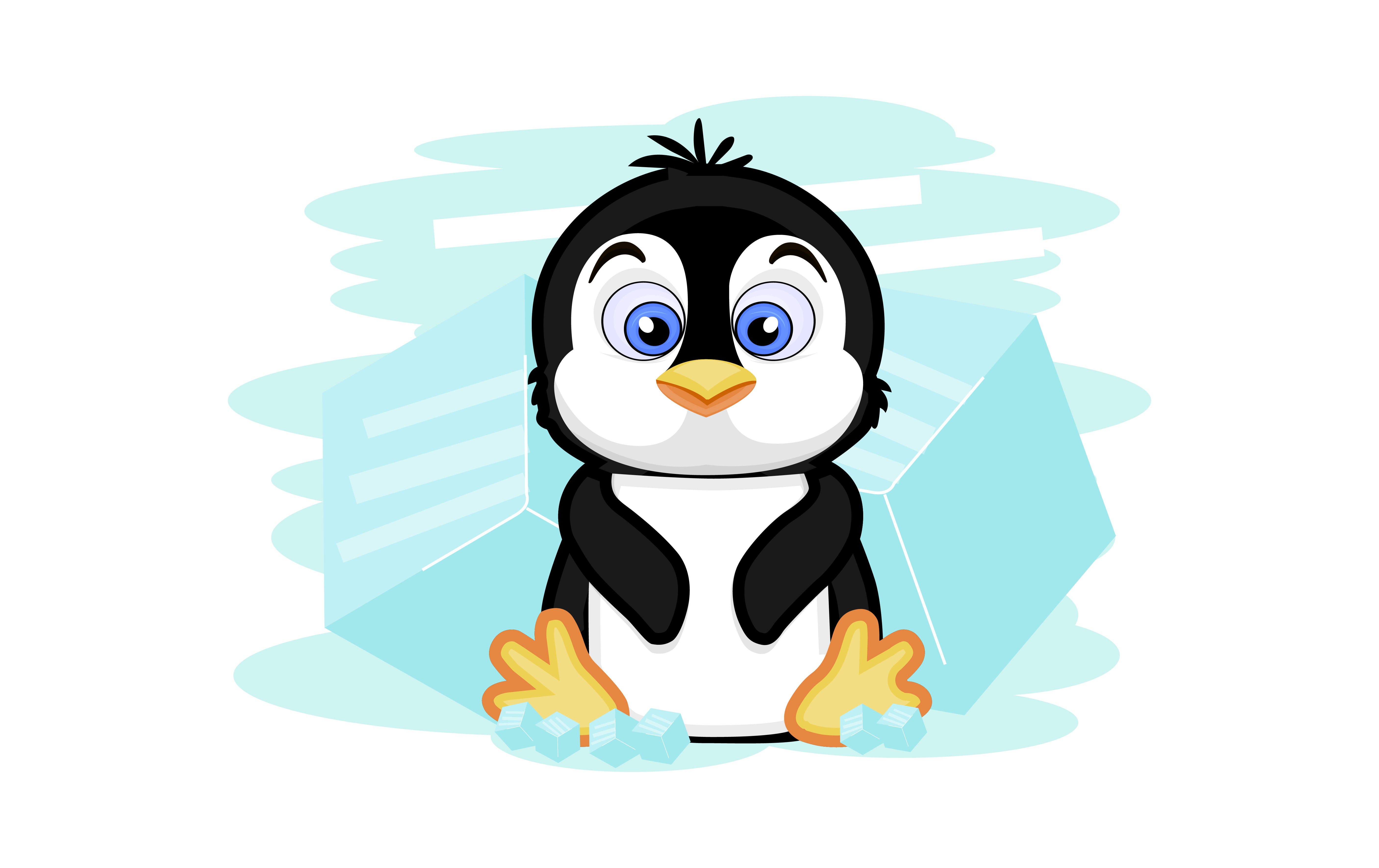 Download Free Penguin Vector Illustration Graphic By Ngabeivector Creative for Cricut Explore, Silhouette and other cutting machines.