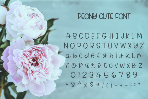 Peony Font Preview