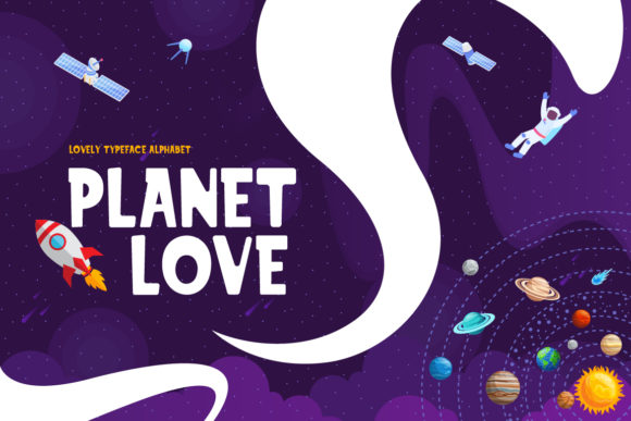 Download Free Planet Love Font By Naulicrea Creative Fabrica for Cricut Explore, Silhouette and other cutting machines.