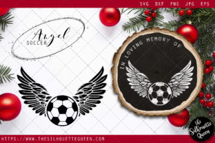 Download Free Rip Soccer Player Memorial With Angel Wings Graphic By for Cricut Explore, Silhouette and other cutting machines.