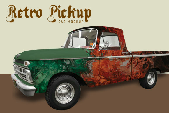 Download Free Truck With Container Mock Up Graphic By Gumacreative Creative for Cricut Explore, Silhouette and other cutting machines.