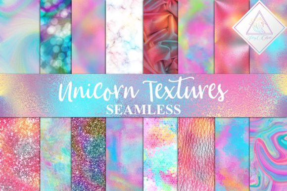 Print on Demand: Seamless Unicorn Textures Digital Paper Graphic Textures By fantasycliparts