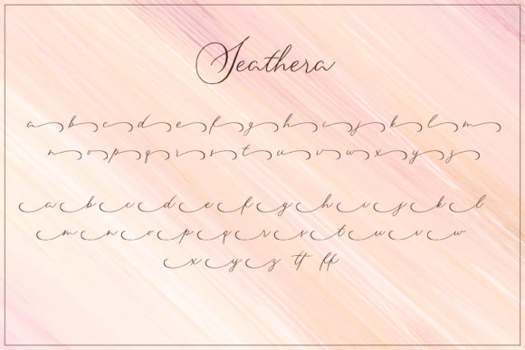 Print on Demand: Seathera Script & Handwritten Font By almarkhatype - Image 8