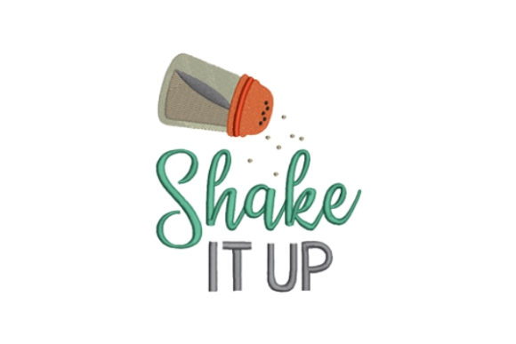 Shake It Up Kitchen & Cooking Embroidery Design By designsbymira - Image 1