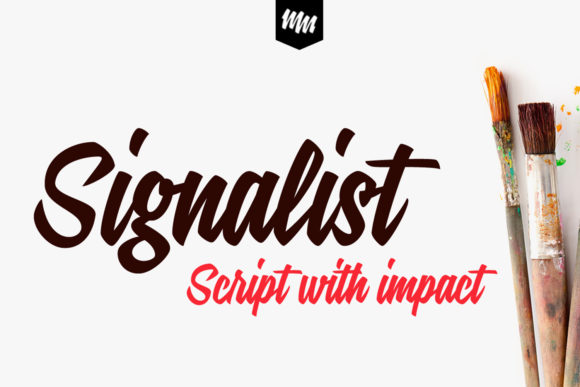 Print on Demand: Signalist Script & Handwritten Font By melvasmika