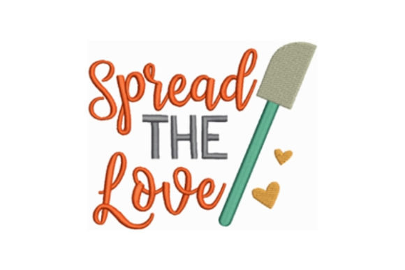 Spread the Love Küche & Kochen Stickdesign von designsbymira