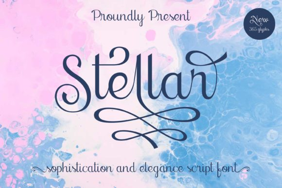 Print on Demand: Stellar Script & Handwritten Font By Lone Army