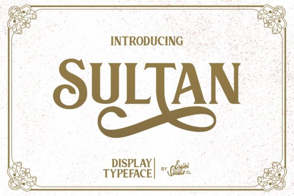 Print on Demand: Sultan Serif Fuente Por ergibi studio