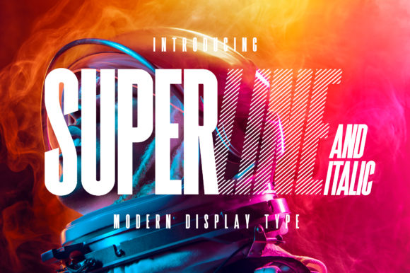 Print on Demand: SuperLine Display Font By Kavoon