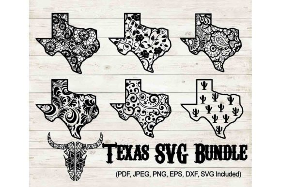 Print on Demand: Texas Bundle Graphic Crafts By Mockup Station