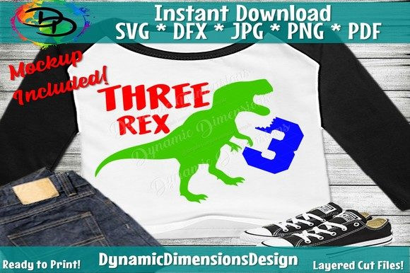 Three Rex SVG Graphic Crafts By dynamicdimensions