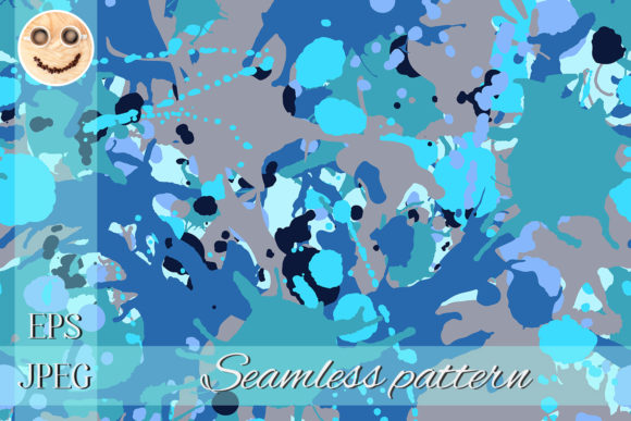 Download Free Turquoise Brown Blue Black Camouflage Graphic By Tasipas SVG Cut Files