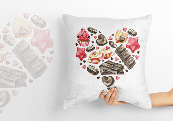 Watercolor Chocolate Heart Clipart Graphic Illustrations By NataliMyaStore - Image 3