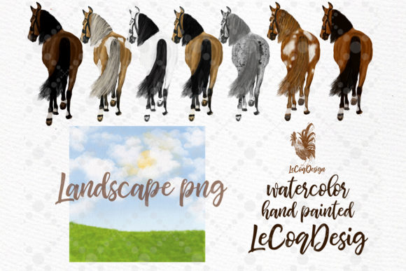 Watercolor Horse Clipart,Horse Breeds Graphic Illustrations By LeCoqDesign - Image 5
