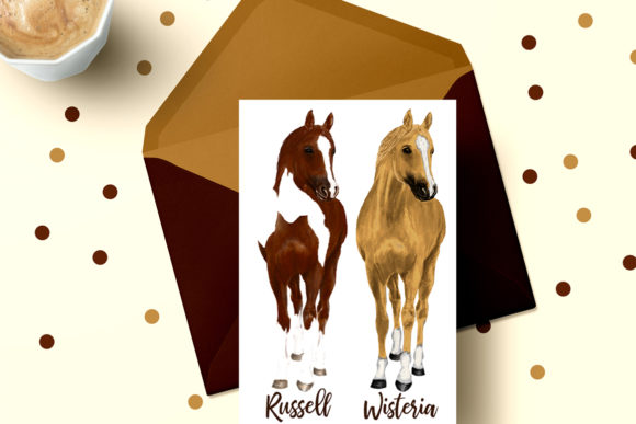 Watercolor Horse Clipart,Horse Breeds Graphic Illustrations By LeCoqDesign - Image 6