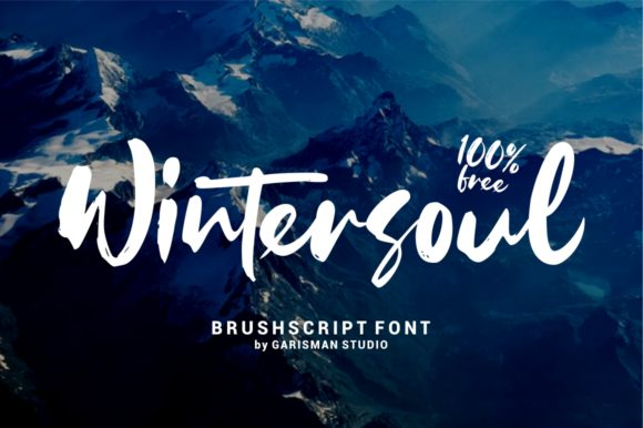 Print on Demand: Wintersoul Manuscrita Fuente Por Creative Fabrica Freebies